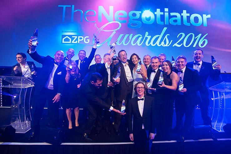 The Negotiator Awards winners 2016 with Ed Byrne image