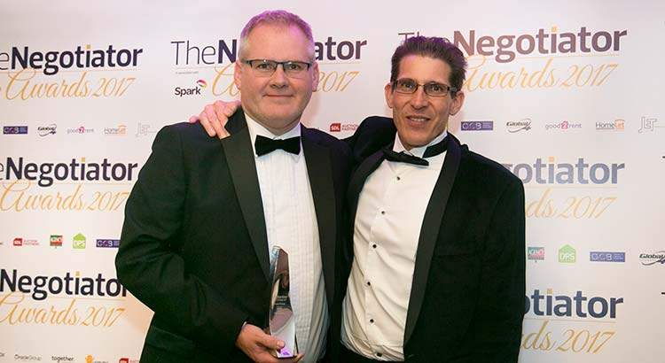The Negotiator Awards 2017 Winners Howard Cundy Innovator of the Year Award UK Residential Awards image