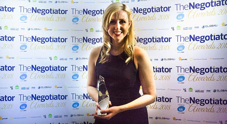 Angharad Trueman CGT Lettings The Negotiator Awards Rising Star of the Year 2019 Estate Agent Awards image